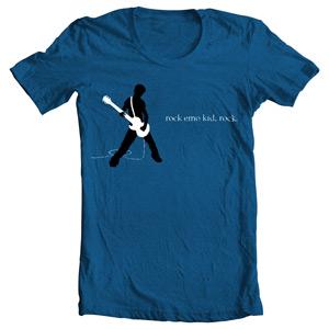 تی شرت گیتار طرح guitar emo