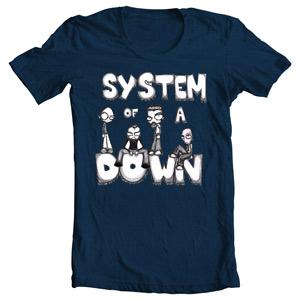 تی شرت سیستم اف داون