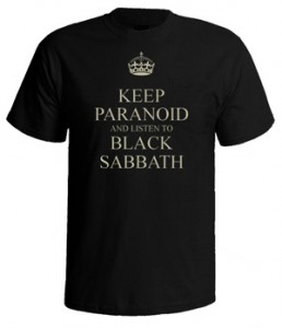 تی شرت بلک ثبث طرح paranoid