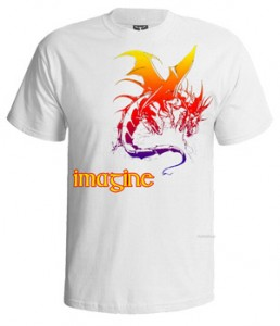 تی شرت ایمجین دراگونز karaoke