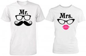 تی شرت زوج طرح mr mrs
