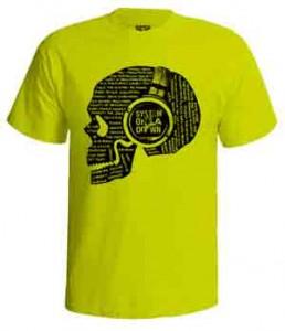 تی شرت سیستم او ا داون skull