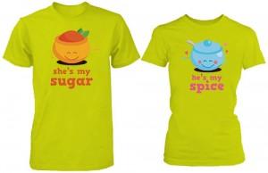 تی شرت دو نفره طرح my sugar my spice