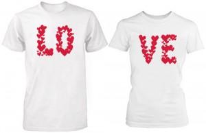 تی شرت دو نفره طرح love