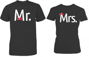تی شرت دو نفره طرح mr mrs