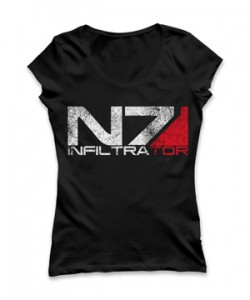 تی شرت دخترانه طرح N7 gamer girl thong