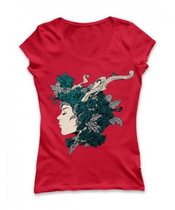 تی شرت زنانه طرح زیبای In We