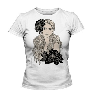 تی شرت دخترانه طرح nice girl