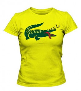 تی شرت زنانه طرح lacoste