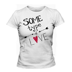 تی شرت دخترانه some type love