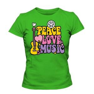 تی شرت دخترانه جدید peace love music