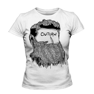 تی شرت دخترانه طرح outlaw