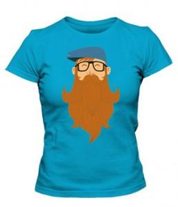 تی شرت دخترانه طرح Beard