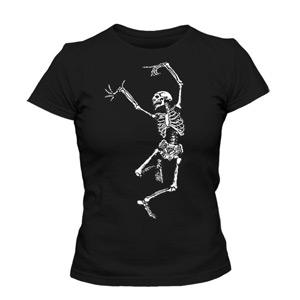 تی شرت زنانه dancing skeleton