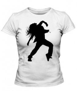 تی شرت دخترانه طرح hip hop dancer