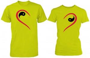 تی شرت دو نفره طرح half heart