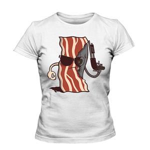 تی شرت دخترانه طرح bacon terminator