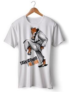 تی شرت تکواندو طرح taekwondo fighter