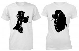تی شرت دو نفره طرح silhouette