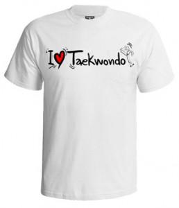تی شرت تکواندو i love taekwando