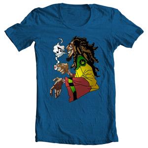 تی شرت شخصیت طرح bob marley