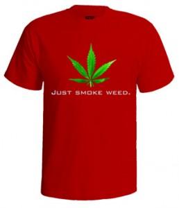 خرید تی شرت weed طرح just smoke weed