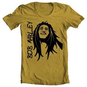 تی شرت شخصیت طرح باب مارلی