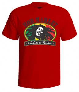 تی شرت باب مارلی طرح bob marley
