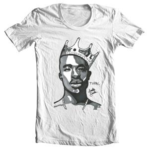 تی شرت توپاک طرح king