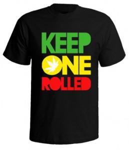 تی شرت weed طرح keep one rolled