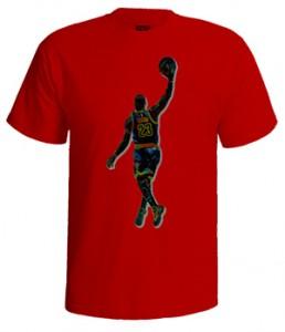 تی شرت لبران جیمز طرح lebron james