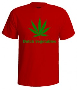 تی شرت weed طرح dutch vegetables