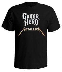 تی شرت های متالیکا طرح guitar hero
