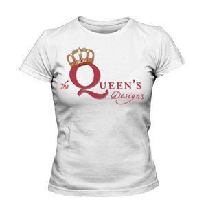 تی شرت زنانه طرح the queen