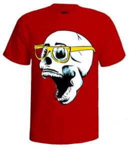 خرید تی شرت طرح اسکلت