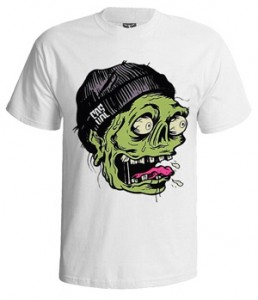 تی شرت گرافیکی طرح zombie sticker