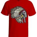 تی شرت طرح اسکلت indian head skull