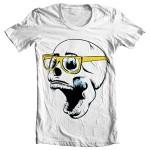 تی شرت طرح اسکلت human skull