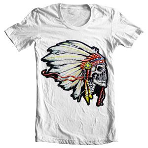 تی شرت با طرح اسکلت mercanti