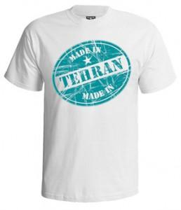 تی شرت تهران طرح زیبای made in tehran