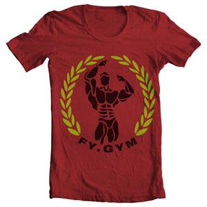 تی شرت مخصوص بدنسازی fy gym