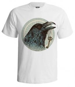 تی شرت گرافیکی طرح raven head