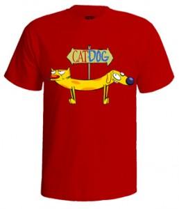 تی شرت گربه سگ طرح cat dog