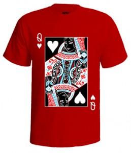 تی شرت گرافیکی طرح queen of spades