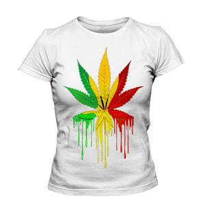 تی شرت گرافیکی طرح marijuana leaf