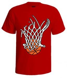 تی شرت بسکتبالی طرح basket