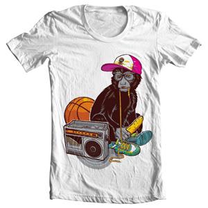 تی شرت طرح زیبای hip hop wallpaper