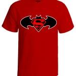تی شرت batman and superman logo