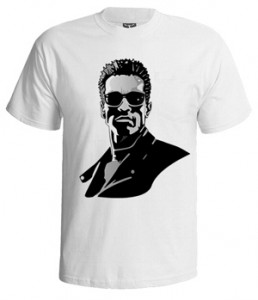تی شرت بازیگران طرح arnold schwarzenegger