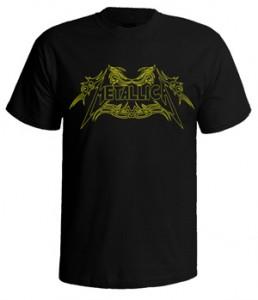 تی شرت metallica طرح لوگو